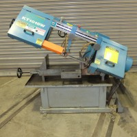 """KALAMAZOO 10"""" x 18"""" HORIZONTAL BAND SAW MODEL KT1018W WITH COOLANT ROLLER TABLE AND ASSORTED BAND SAW BLADES 2013"""