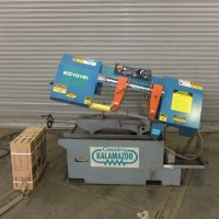 """KALAMAZOO 10"""" x 16"""" HORIZONTAL BAND SAW MODEL KCT1016W WITH COOLANT ROLLER TABLE AND ASSORTED BAND SAW BLADES 2011"""