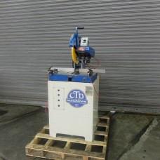 """CTD 12"""" MITERING CUT OFF SAW MODEL M25R ON METAL CABINET BASE WITH PNEUMATIC CLAMPING USA MANUFACTURED IN 2013"""