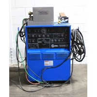 MILLER SYNCHROWAVE 350 Constant Current AC/DC ARC Welding Power Source with Anchor Cooling System Regulator and Foot Pedal, Nice! Low Hours from R & D Lab